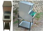 Metal storage bins for dry horse, donkey, poultry, birds, pigs feed