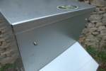 Metal storage bin using FIFO - first in, first out, made by My-Fifo UK